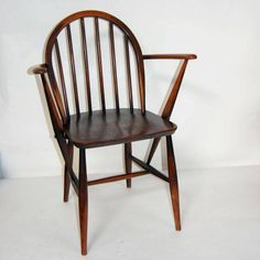 Gorgeous 1960s Ercol Vintage Retro Oak Windsor Dining Chair Model 139A