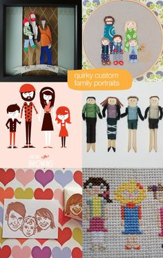 all of them!!!! 6 Unique Ways to Capture your Family Portrait (Fab Finds on Etsy)