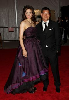 Peter with Maggie Gyllenhaal at the 2008 Met Costume Institute Gala.
