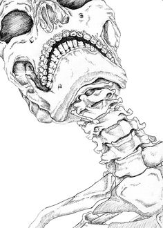 """Skeleton drawing  to get unusual compositions -Pay attention to the """"point of view"""""""