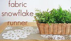 Fabric Snowflake Runner
