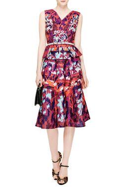 Emma Printed Cloqué A-Line Skirt by Peter Pilotto - Moda Operandi