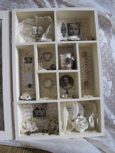 All white shadowbox