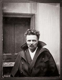 August Strindberg, Autoportrait à Berlin, 1892, coll. Bibliothèque nationale de Suède