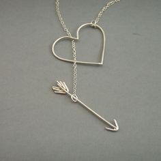 arrow heart necklace