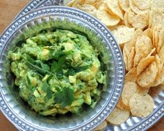 "Homemade Guacamole  with Tomatillos, lower calorie stays green! Love the extra bite of ""sour"" too. #WeightWatchers #LowCarb #LowCal #Paleo #GlutenFree #Vegan"
