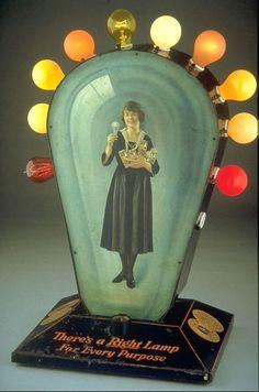 Art Deco Advertising Display, Edison Lamp Works of General Electric -1923