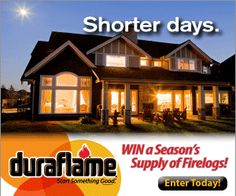 Enter For Your Chance To Win Firelogs from Duraflame + $3 Coupon!