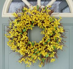 Spring Wreath -- Forsythia Wreath