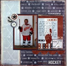 Hockey Additions Scrapbooking Layout Idea from Creative Memories