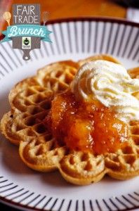 Vegan Gingerbread Waffles With Vanilla Apple Compote Recipe from HealthyVoyager.com