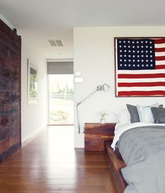 A LITTLE BIT COUNTRY Paul Catlett built the walnut bed and nightstands in the master bedroom of their modern farm house in southwestern M...