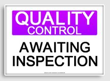 free printable quality control signs and signage