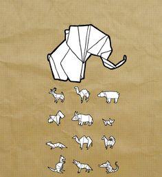 Geometric Animal Drawing geometric drawing animals
