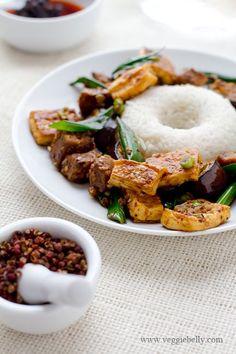 spicy szechuan eggplant with tofu