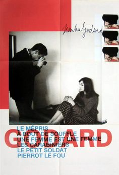 French poster for a 1980's festival of six Jean-Luc Godard films from the…