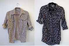 For sale in TYF Closet!    $10 Flower Button Up size M. It is a heavier/thicker cotton button up.    $10 Floral Button Up size M.