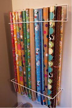 love this wrapping paper storage