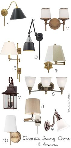 Sconces 1, 2 and 3.  Shopping For Lighting: A Fabulous Online Source