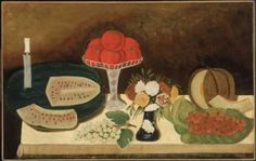 """Unidentified artist, """"Tomatoes, Fruit, and Flowers."""" Museum of Fine Arts, Boston."""