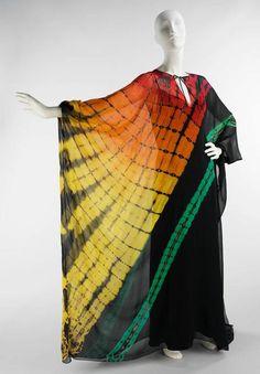 evening dresses, museums, 1975, art, metropolitan museum, 1970s, evenings, halston, kaftan