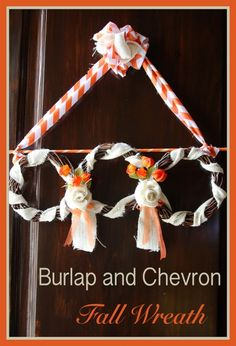 Burlap and Chevron F