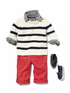 Baby Clothing: Baby Boy baby outfits, boys style, baby boy outfits, boy clothing, baby boys, fall outfits, babi boy, little boys, red pants