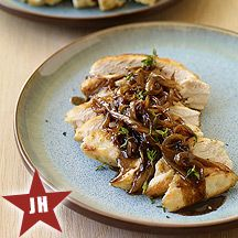 Balsamic Chicken with onions. 5 Weight Watcher points.