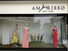 Window Display at Amarisso New York in Kifissia - Designer Dresses- Haute Couture