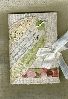 Cover and small composition book fabric art cover