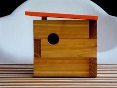 Modern birdhouse.