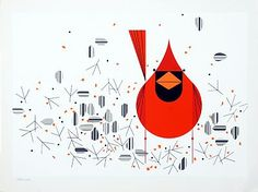 """Cardinal with Seeds"" for the Ford Times."
