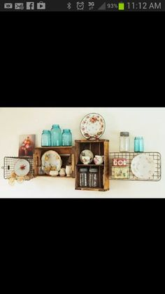 Cute Display Wall Decor Idea Cottag Wall Displays Shelves Wire
