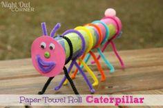 Paper Towel Roll Crafts | Paper Towel Roll Caterpillar