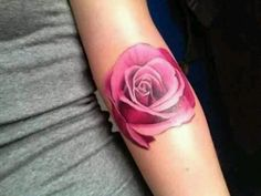 Rose tattoo love the colour