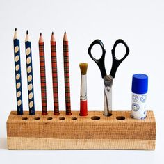 Wood Pencil Holder