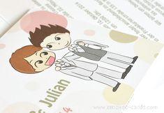 Partecipazioni di matrimonio personalizzate con caricatura in stile fumetto!  Lui & Lui by e-MoVeo Cards www.emoveo-cards.com