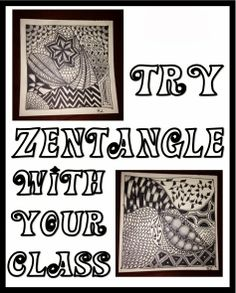 Try Zentangle with your Students - or just for yourself! Great for de-stressing and easier than it looks. This post will get you started!