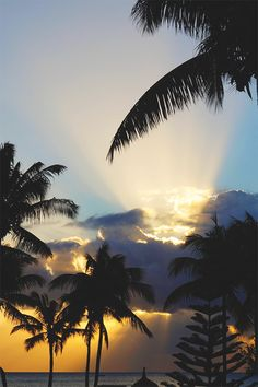 Sunsets in Mauritius