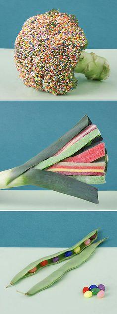candy + vegetable art