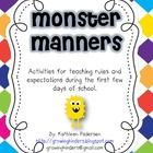Here is a fun little packet for you to help teach manners and expectations in school the first few days of school!  I hope you enjoy it!  Kathleen ...