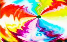 Mágica colorida com leite