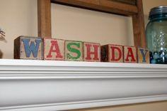 wash day - laundry room decor