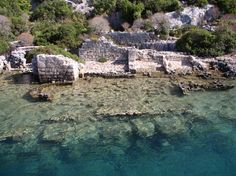 Sunken city at Kekova, Lycian coast, Turkey  http://jnanadevelopment.webs.com/ For details about our Turkish Yoga Holiday in May 2013 contact Dom at jnanadevelopment@me.com for details, prices and availability.