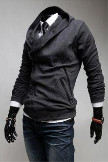 Men's Double Zipper Pocket Hoodie