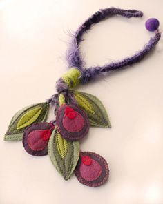 unique jewelry using fabric and yarn
