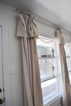 husband and harmony: diy curtains. no sewing, some assembly required.