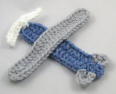 Crochet Airplane Appliqué | Squirrel Picnic