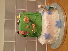 Secret of the wings tinkerbell cake phew finally done!