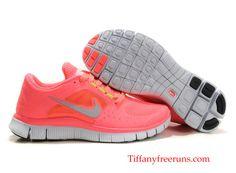 Nike Free Run 3 Womens - Hot Punch Reflective Silver Sol Volt